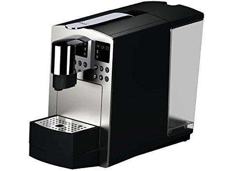 K-fee Grande Kaffeekapselmaschine für große Mengen (1455 Watt, 3,5 Liter Wassertank, Farbe Silber)