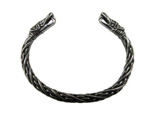 Wikinger Drachenkopf Armreif (klein) - Zierliches Armband