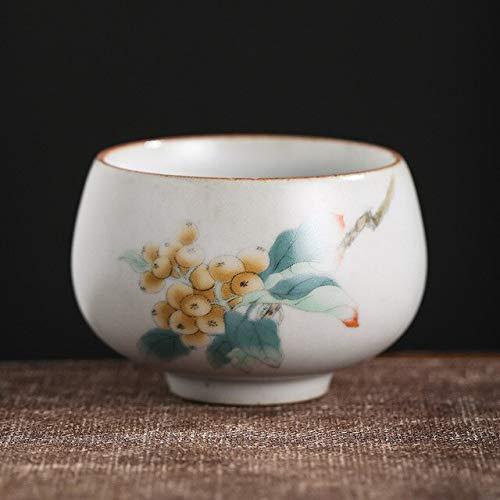 ABOO Juego de té taza de té estilo chino retro taza de cerámica personal sola taza Pu'er té taza