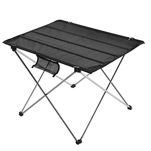 Ymiko Outdoor opvouwbare tafel draagbare camping tafel met nylon doek tafelblad en opbergtas, kleine opvouwbare bijzettafel voor picknick, BBQ, kamp, strand koken (klein)