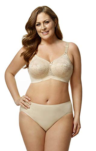 Elila Women's Embroidered Microfiber Soft-Cup Bra 1301 52E Nude