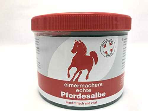 Eimermachers Pferdesalbe 500 ml Kühlt garantiert über drei Stunden, entspannt, ist durchblutungsfördernd und aktiviert nach Beanspruchung. Macht frisch und vital bei Muskelkater und Verspannung.