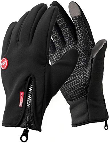 Opard Touchscreen Handschuhe Unisex Winter Warme Fleece Innenfutter Handschuhe Wasserdicht Rutschfestes Abriebfest Arbeit Sport Outdoor Motorrad Radfahren Mountainbike (S)
