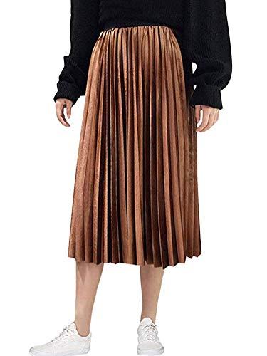 Faldas Plisadas Señoras De Lang Raso Una Chnürsenkel Línea Mode Básicos De Falda Larga Playa Alta De La Cintura Falda Plisada Falda De Una Línea Faldas Falda De Las Muchachas del Verano Elegante De