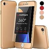 Cover iPhone 6s PLUS 360 Gradi e Vetro Temperato – Custodia Davanti e Dietro per iPhone 6s PLUS / 6 PLUS – Protezione Completa Fronte e Retro con Pellicola Protettiva, Ultra Sottile e Rigida (Oro)