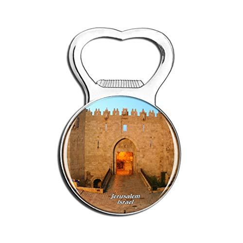 Weekino Israel Israel Damaskus Tor Jerusalem Kühlschrankmagnet Bier Flaschenöffner Stadt Reise Souvenir Sammlung Starker Kühlschrankaufkleber