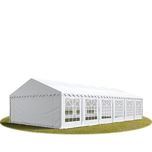 TOOLPORT Tente de réception/Barnum 6x12 m - ignifugee Blanc Toile de Haute qualité env. 500g/m² PVC Economy