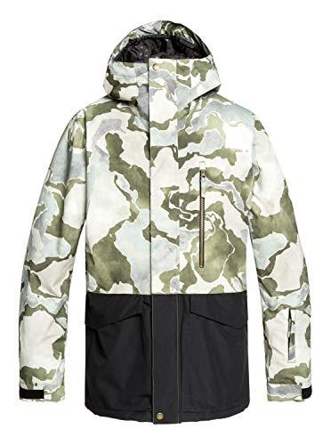 Quiksilver Mens Mission - Snow Jacket for Men Snow Jacket Brown XL