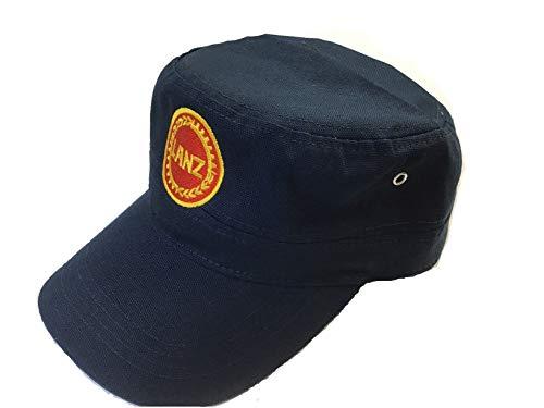 Capshop.de Lanz Bulldog Kappe Marineblau mit rundem Lanz Logo Bestickt