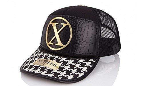 Gorra de diseño blanca y negra para hombre y mujer