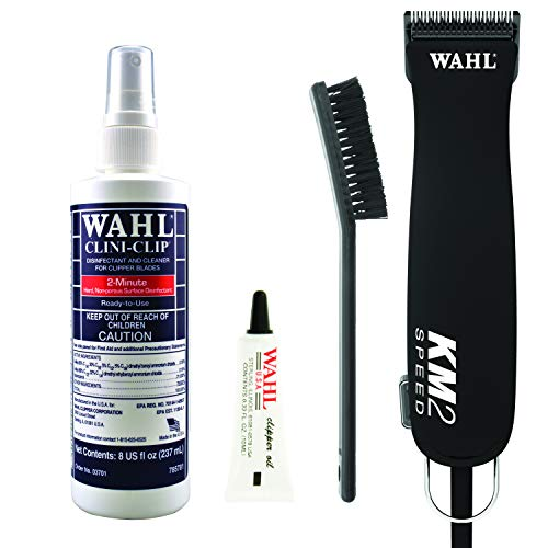 Wahl Professional Animal KM2 2-Speed Veterinary Clipper Kit for Pets, Dogs, and Horses with #40 Surgical Blade (#9757-800), Black
