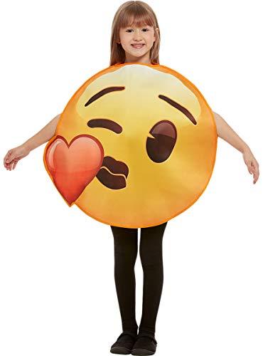 Funidelia | Disfraz de Emoji Beso de corazón Oficial para niño y niña Talla 6-12 años ▶ Emoticono, Whatsapp, Original y Divertido - Amarillo