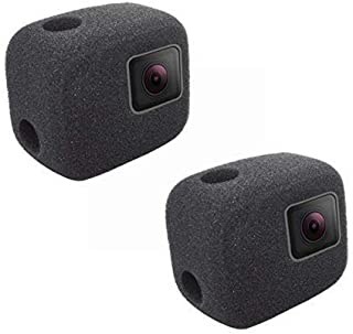 2 Pack Windshield Wind Noise Reduction Foam Sponge Cover Windproof Housing Case Compatible with GoPro Hero 7 5 6 (2018) Black Camera