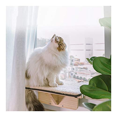 Massief Houten Kattenhangmat Hangend Nest Vensterbank Bed Verwijderbaar Rustgevend Mand Wiegbed