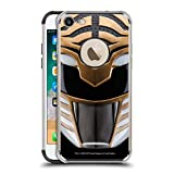 Head Case Designs Officially Licensed Power Rangers White MMPR Famous Helmet Black Shockproof Fender Case Compatible with Apple iPhone 7 / iPhone 8 / iPhone SE 2020