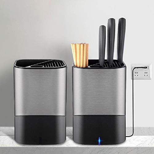 GUANGE Porta utensilios de cocina para desinfección de ozono, bloque de cuchillos...