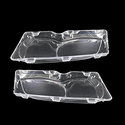 Pantalla de la lámpara de la Linterna del Coche Lente de la Linterna del Coche para BMW E46 3-Series 4 Door 2002-2005 Tapa del Faro...
