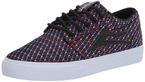 Lakai Footwear Mens Griffin Skate Shoe, BLUE/ORANGE CHECKERED TEXTILE, 9.5