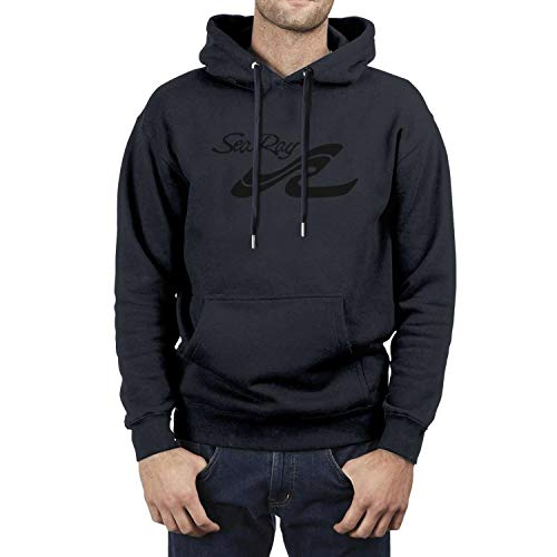 Pupkitten Navy-Blue Hoodies for Mens Sea-Ray-Logo-Black- Fashion Long Sleeve Gym Heavy Blend Pullover Sweaters