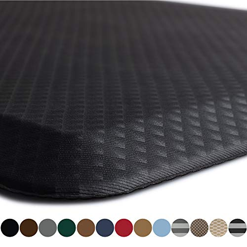 Kangaroo Original Standing Mat Kitchen Rug, Anti Fatigue Comfort Flooring, Phthalate Free, Commercial Grade Pads, Ergonomic Floor Pad for Office Stand Up Desk, 39x20, Black