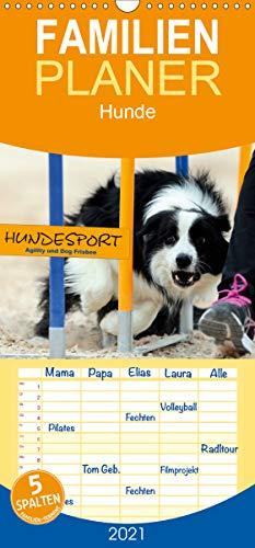HUNDESPORT - Agility und Dog Frisbee - Familienplaner hoch (Wandkalender 2021, 21 cm x 45 cm, hoch)