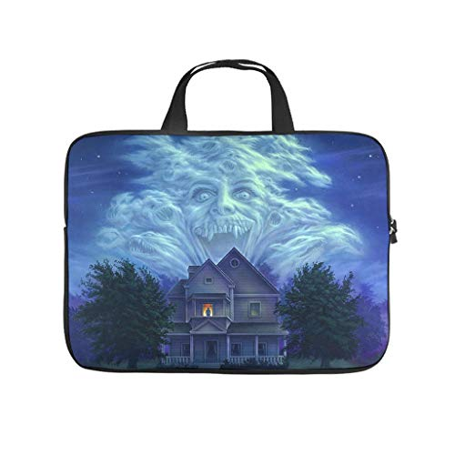 Fright Night on The Right Night Halloween Horror Laptop Case Bag Slim Big Capacity Zipper Basics 10-17 Inch for Office White 15 Zoll