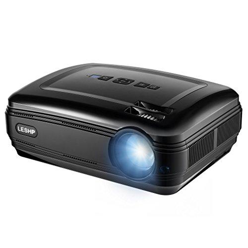 Beamer Greenskon Full HD1080P, OHP Lumens LED Mini LCD, Filmprojektor, Privatkino, tragbar, USB, VGA, HDMI, Xbox, Playstation, PC schwarz Schwarz