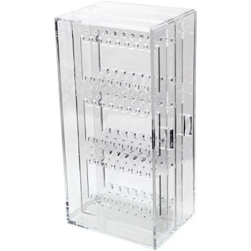 iGadgitz Home U7191 Joyero Pendientes Cajones, Expositor Pendientes, Caja Pendientes - Transparente