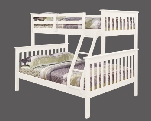 DONCO Twin Over Full Mission Bunk Bed in White