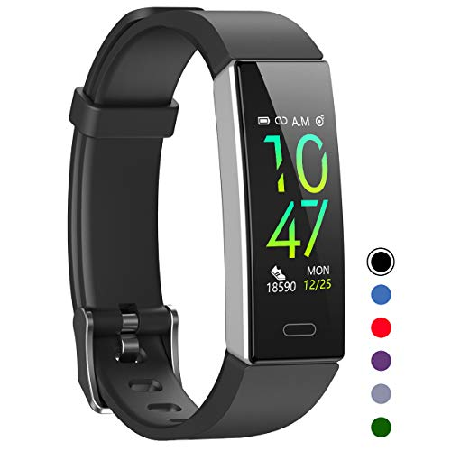 Mgaolo Fitness Tracker,Waterproof Activity Tracker with Blood Pressure Heart Rate Sleep Monitor for Android and iOS,11 Sport Modes Health Fit Smart Watch with Pedometer for Fitbit Men Women Kids Black