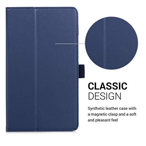 kwmobile Huawei MediaPad M3 8.4 Hülle - Tablet Cover Case Schutzhülle für Huawei MediaPad M3 8.4 - Dunkelblau mit Ständer - 2
