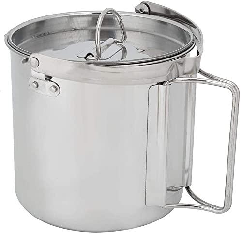 BERTY·PUYI Tetera, hervidor de Agua Duradero, 1,2 l para Cocina de inducción doméstica, Estufa de Gas, Accesorio de Cocina Seguro, Camping, Senderismo, Utensilios de Cocina