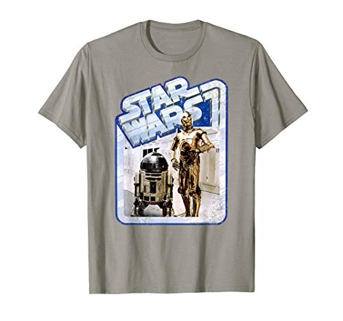 Star Wars Tantive Droids Chrome Border Graphic T-Shirt