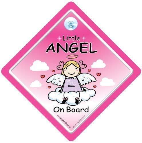 Little Angel sur panneau, Little Angel on Board, Angel on Board, panneau bébéà bord, bébéà bord, panneau bébé, signe pour voiture, pare-chocs Sticker, autocollant, Angel signe voiture, Angel signe
