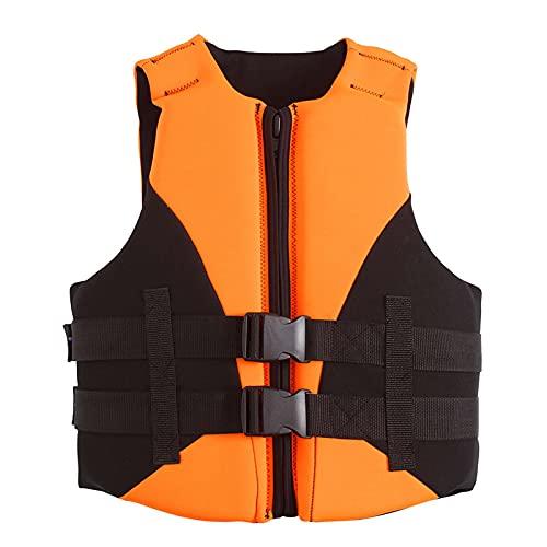 Sunangle Chalecos Salvavidas para Niños Niñas, Chaleco de Natación de Seguridad Ajustable Kayak Chaleco de Flotabilidad de Verano Anticolisión,Orange Black,M