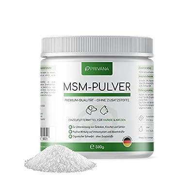 Privana® Reines MSM-Pulver für Hunde und Katzen, 500 g