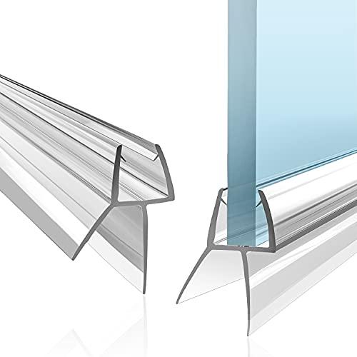 VENIBO Duschdichtung 2x100cm für 6/7/8mm Glastür - Universell! Anbringung verblüffend einfach! Ersatz Dichtung Dusche Glastür - Duschwand Dichtung - Dichtlippe Dusche - Duschdichtungen für Duschtüren