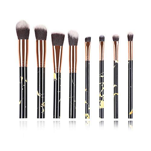 Maquillage anticernes multifonction brosse brosse de maquillage fard à paupières Foundation 2020 outil pinceau de maquillage,8pcs noir