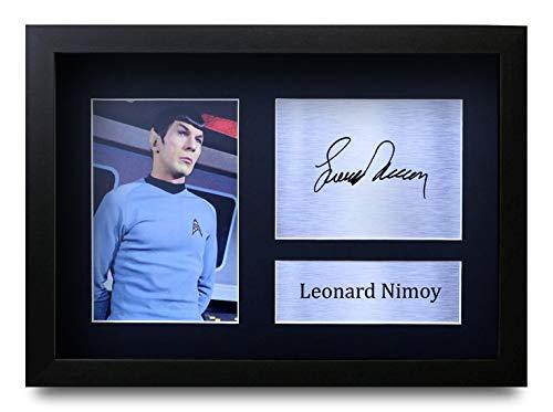 HWC Trading Leonard Nimoy A4 Gerahmte Signiert Gedruckt Autogramme Bild Druck-Fotoanzeige Geschenk Für Star Trek Tv-Show-Fans