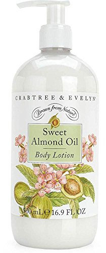 Crabtree & Evelyn Body Lotion, Sweet Almond Oil, 16.9 Fl Oz