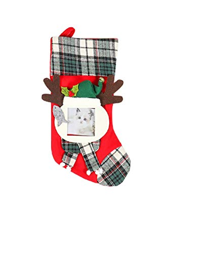 ZBYSocks, DIY.Christmas Stockings, Santa Claus, Snowman, Reindeer, Christmas Characters 3D Plush with Faux Fur Cuffs Christmas Decorations and Accessories