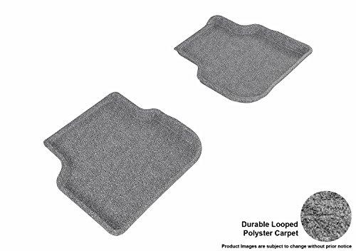 3D MAXpider Carpet Floor Mats for Volswagen Jetta Sedan 2011-2018 Custom Fit Car Floor Liners, Classic Series (2nd Row, Gray)