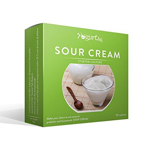 Cultura para preparar la crema agria / producto lácteo/ en casa - 10 bolsitas