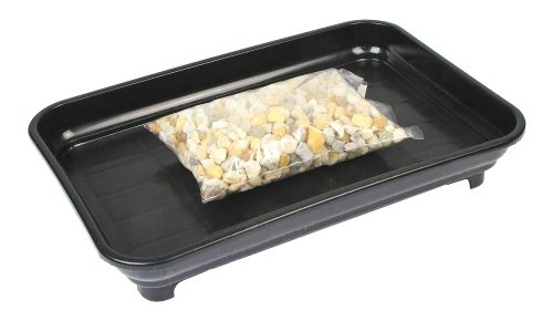 Eve's Garden Bonsai Humidity Drip Tray 6' x 9' with Pebbles Overall Size 6' x 9' to fit a 4.5'x7.75' on The Bottom of Your Pot