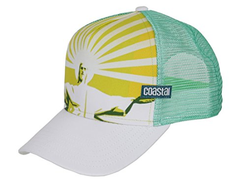 Coastal Trucker Cap Rio White Green - One-Size