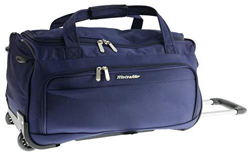 Metzeller Explorer Travel Bag Soft Suitcase Blue Bleu Marine (Blue) S Cabine Small 56x26x28cm 42L 1,5kg