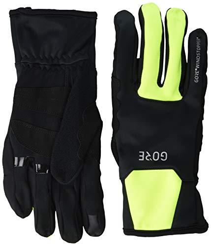 GORE WEAR M Windstopper Thermo Handschuhe, Black/Neon Yellow, 7