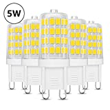 LE Bombillas LED, G9 5W Equivalente a 50W Halógena, Blanco Frío, 340lm No Regulable, Pack de 5