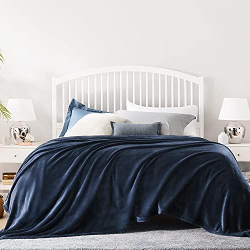 BEDSURE Decke Sofa Kuscheldecke blau - große Fleecedecke für Couch weich & warm, Wohndecke flauschig 230x270 cm als Sofadecke Couchdecke