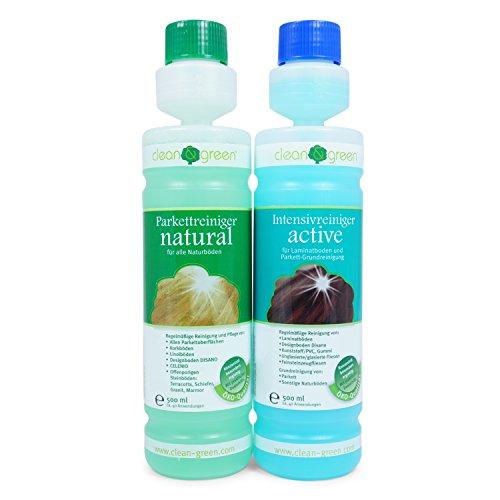 HARO Spar-Set Clean & Green Intensivreiniger + Parkettreiniger je 500 ml